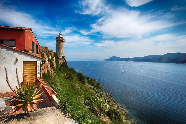 Leuchtturm Portoferraio Insel Elba Italien